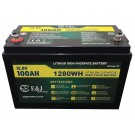 100Ah 12V LiFePO4 Lithium Ion Battery with Bluetooth
